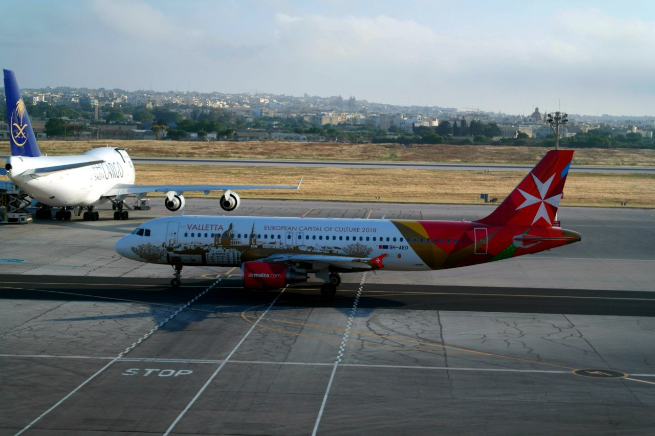 Airbus A320 авиакомпании Air Malta