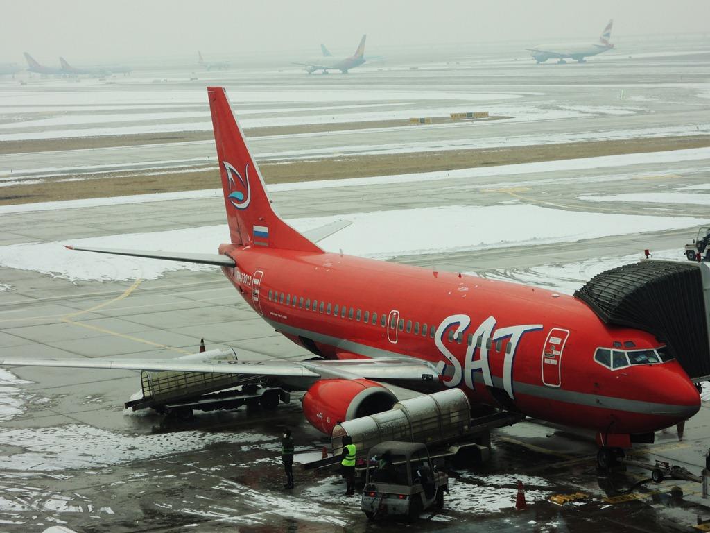 Боинг-737-500 авиакомпании SAT в аэропорту Сеула