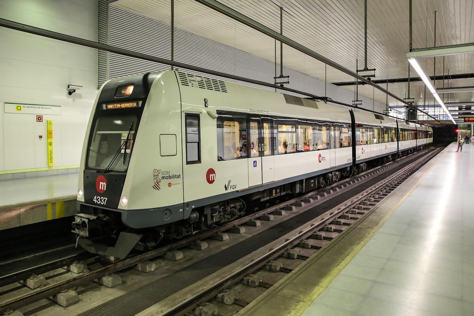 Станция метро в аэропорту Валенсия