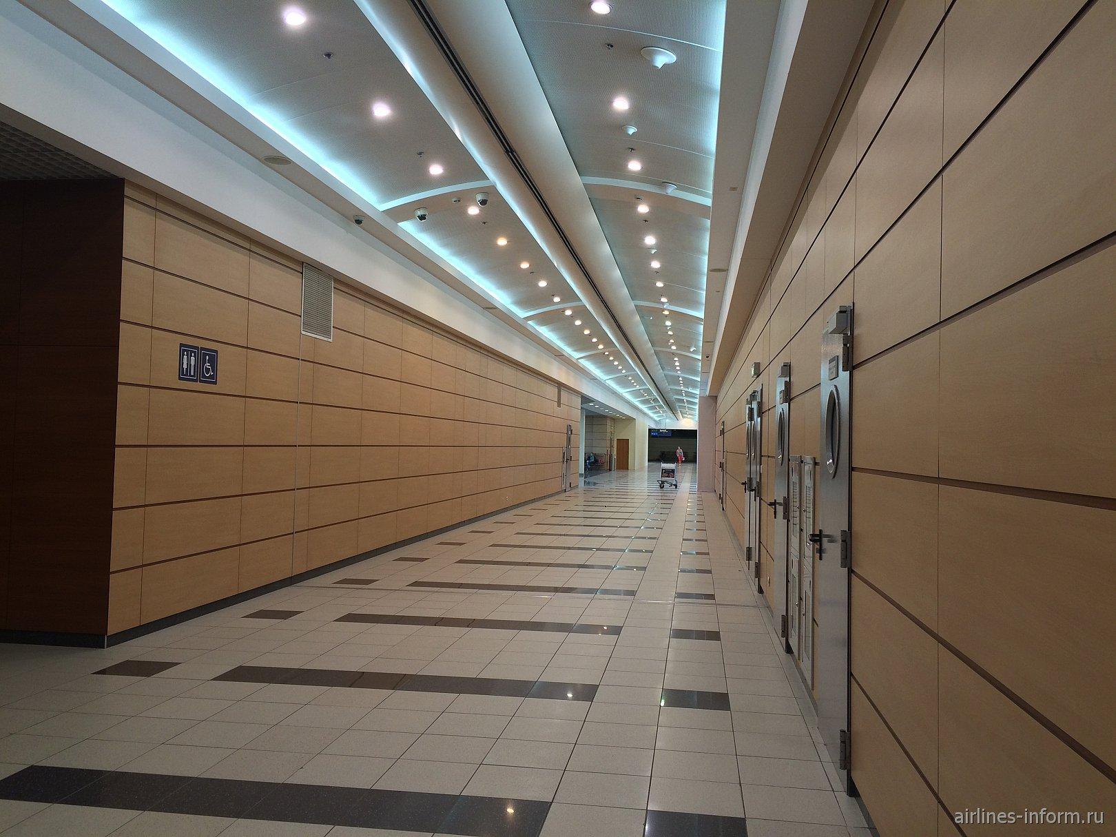 На 3-м этаже в чистой зоне внутренних авиалиний аэропорта Домодедово