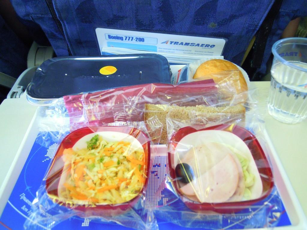 Питание на рейсе Москва-Нью-Йорк авиакомпании Трансаэро