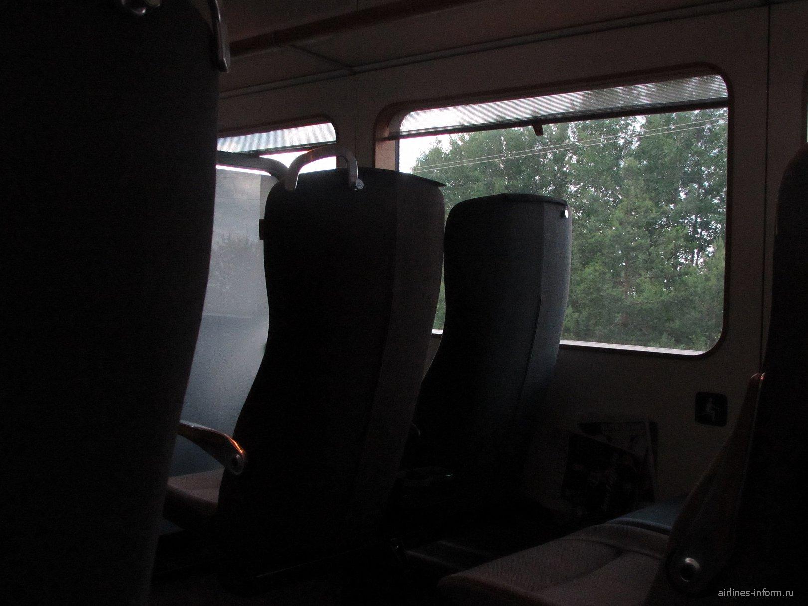 Внутри поезда Arlanda Express