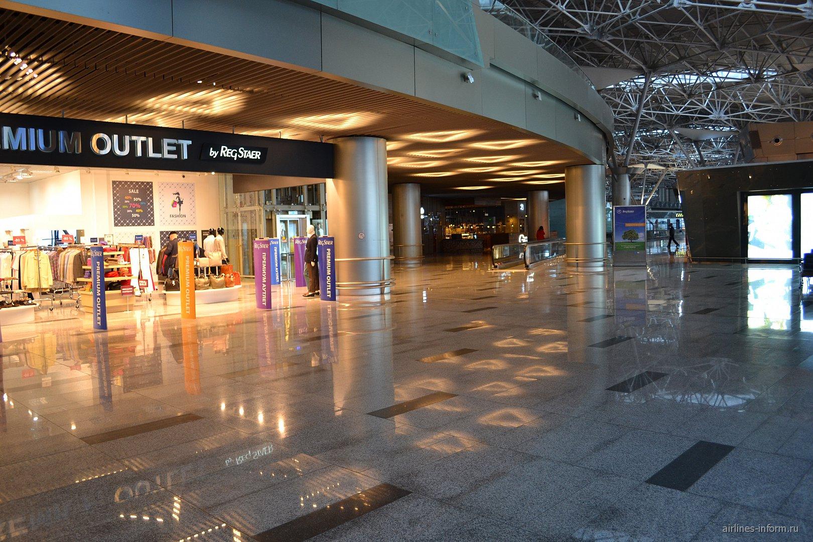 В чистой зоне вылета внутренних рейсов терминала А аэропорта Внуково