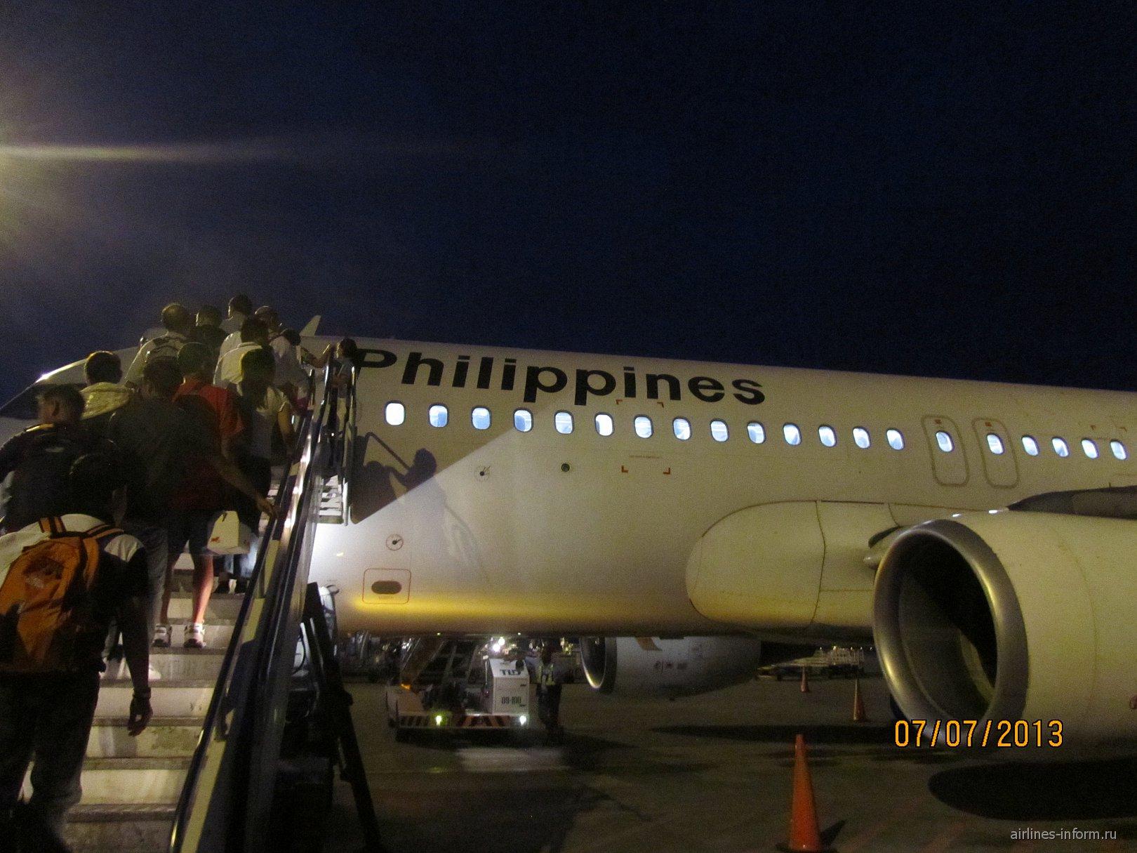 Самолет Эрбас А-320 Филиппинских авиалиний