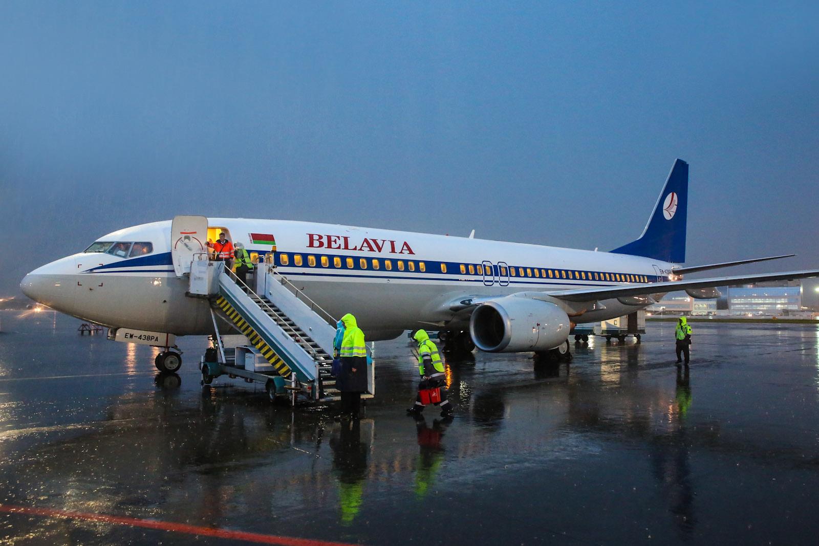 Минск-Москва на Б-737-800 Белавиа