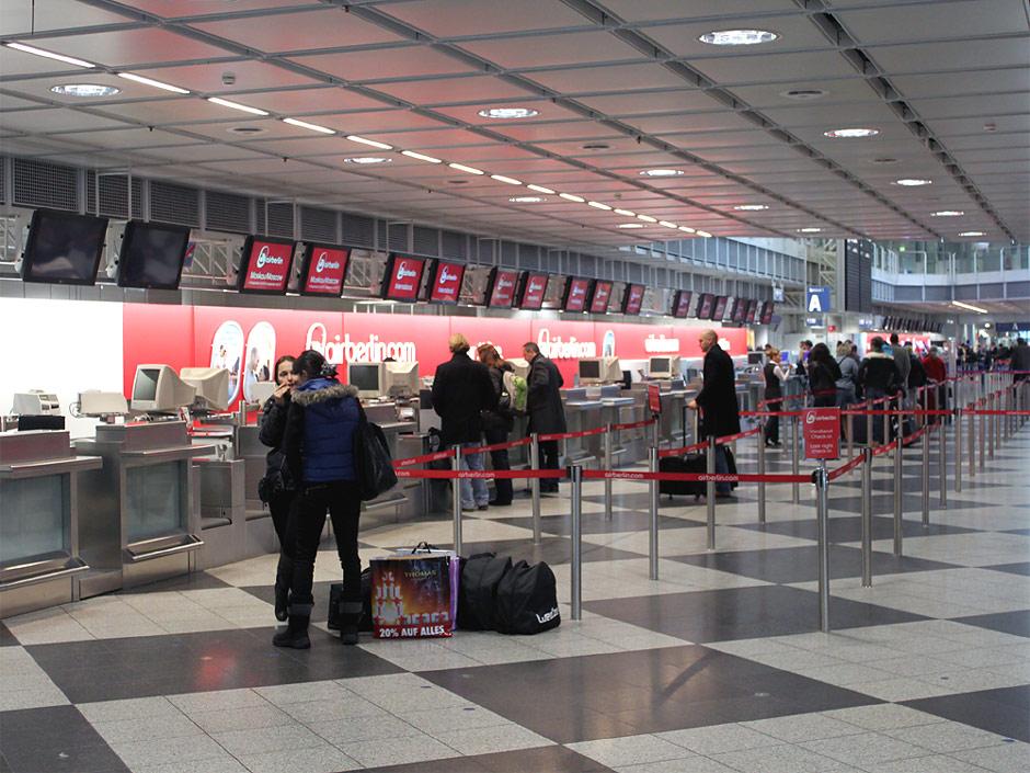 Стойки регистрации Air Berlin в аэропорту Мюнхен