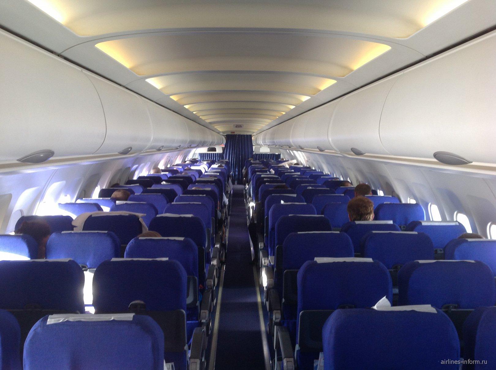 Салон самолета Airbus A320 авиакомпании Россия