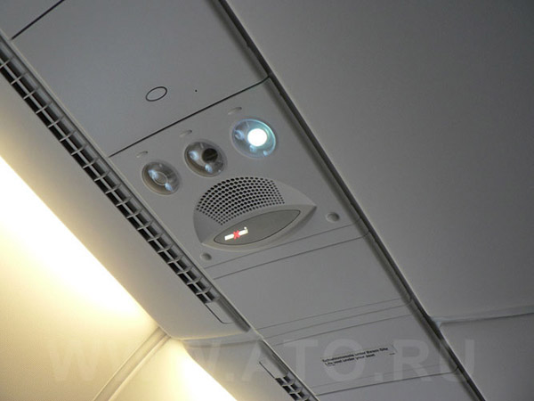 Индивидуальное освещение пассажира Багажная полка в самолете Airbus A380