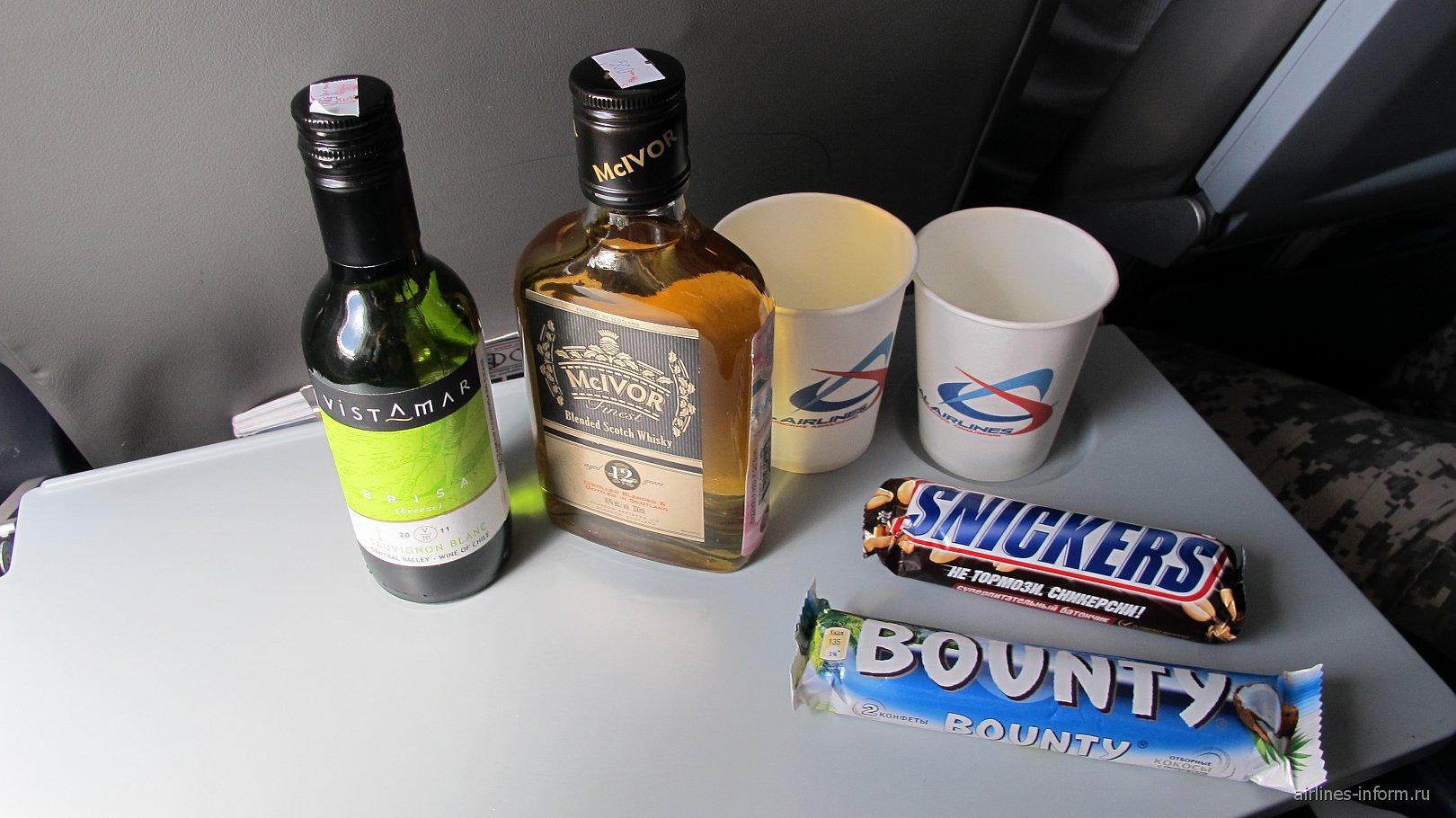 Питание на рейсе Уральских авиалиний Владивосток-Красноярск