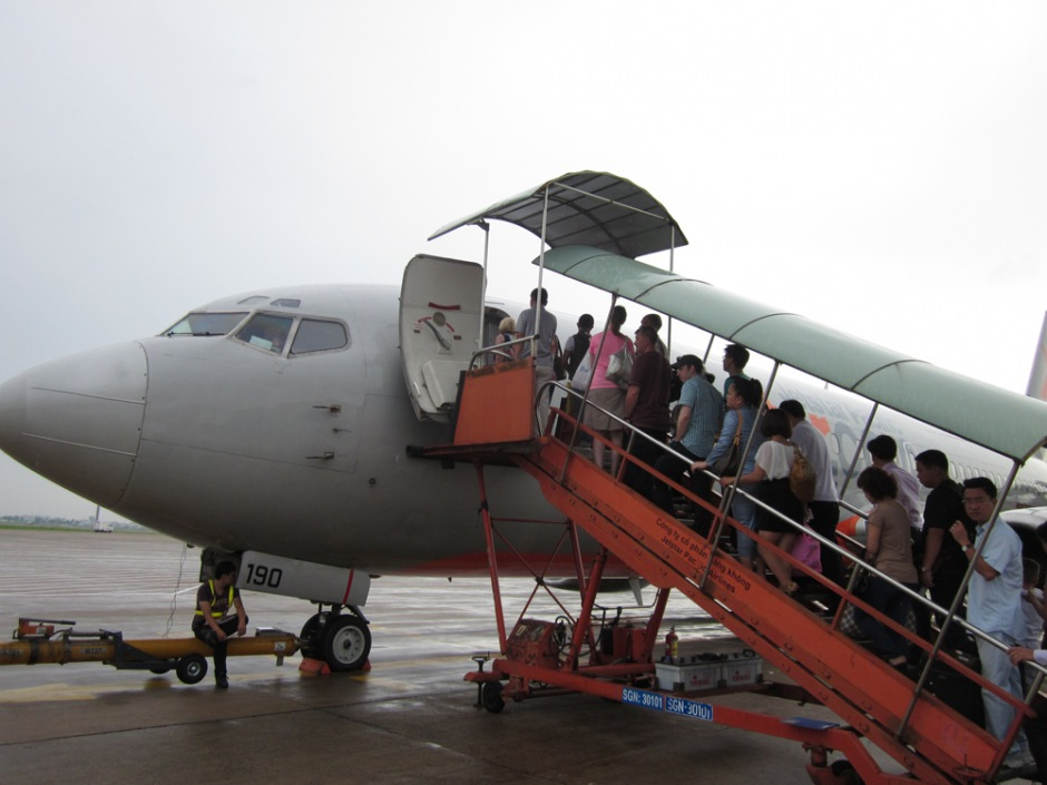 Boarding on the flight of JetStar airline