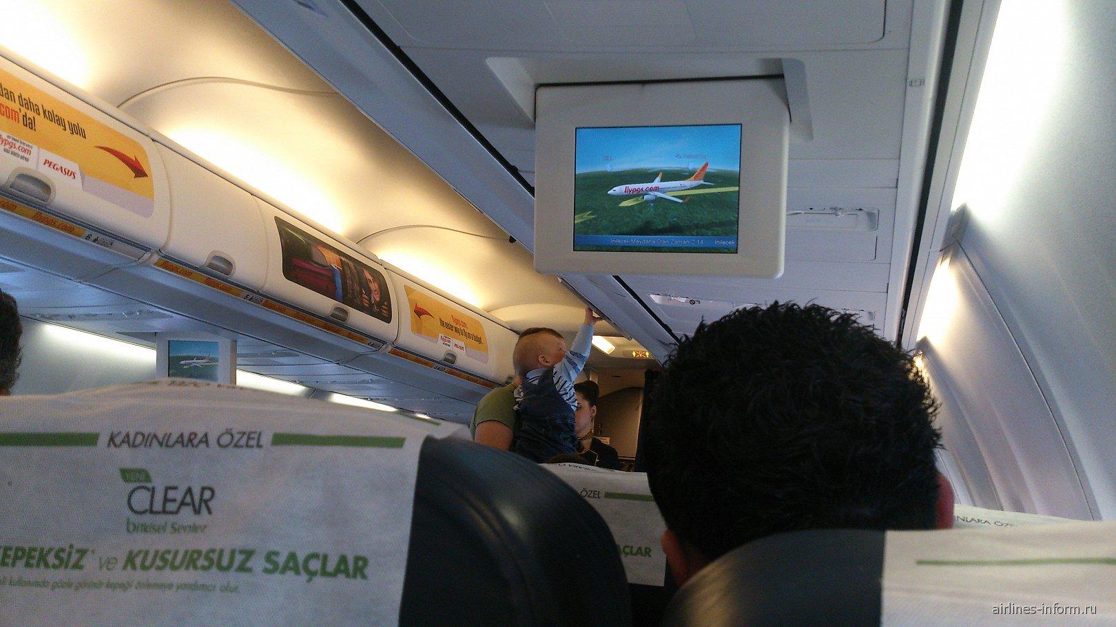 Салон самолета Боинг-737-800 авиакомпании Пегасус