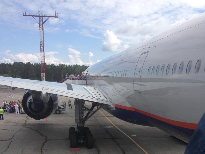 Боинг-777-300 Аэрофлота в аэропорту Емельяново