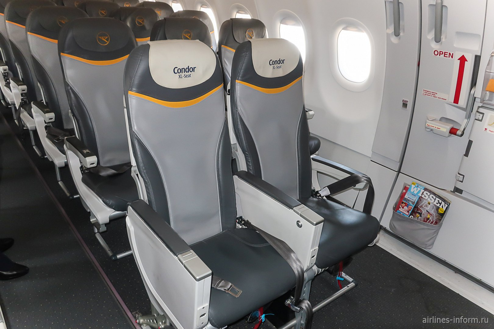Пассажирские места Condor XL в самолета Airbus A321
