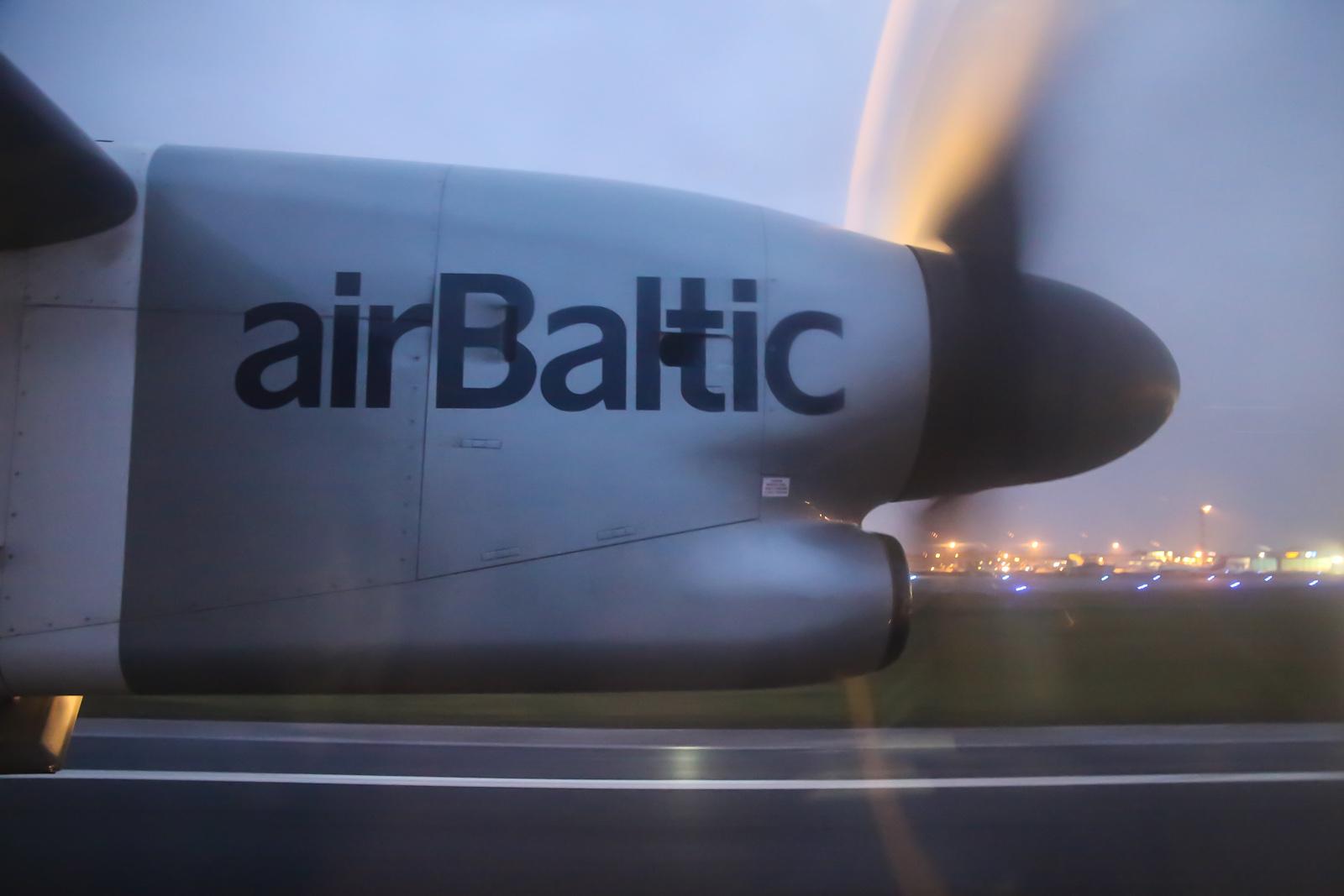 Рейс Хельсинки-Рига авиакомпании airBaltic