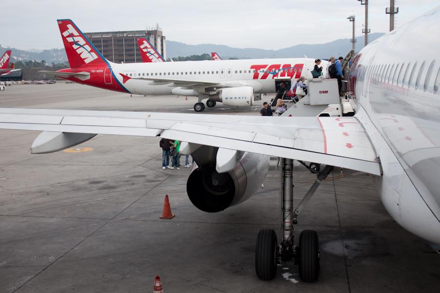 Рейс TAM из Сан-Паулу в Фос-ду-Игуасу