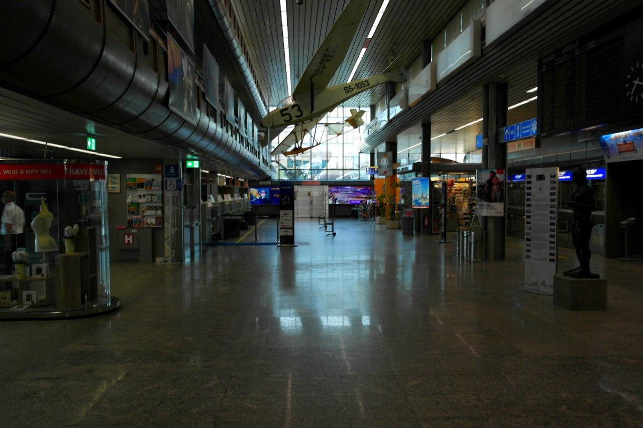 В пассажирском терминале аэропорта Любляны