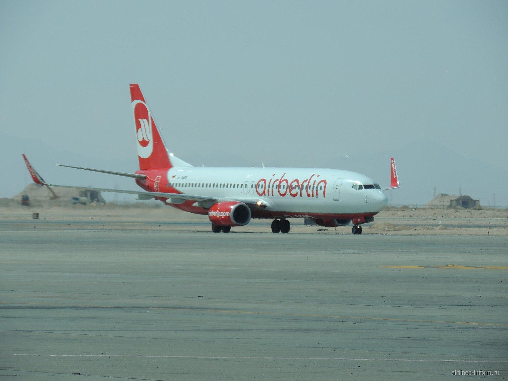 """Боинг-737-800 авиакомпании """"airberlin"""" в аэропорту Хургада"""