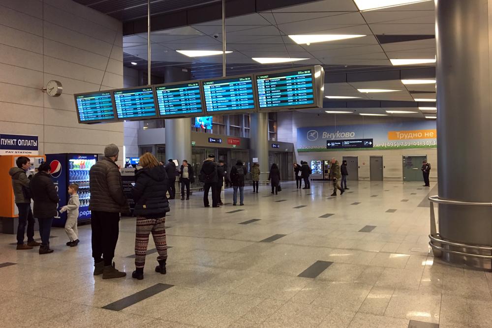 Зал прилета в аэропорту Москва Внуково