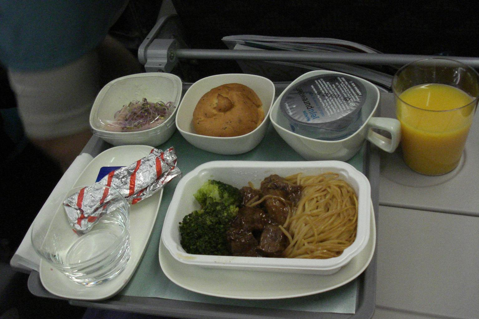 Питание на рейсе Сеул-Пхукет авиакомпании Korean Air
