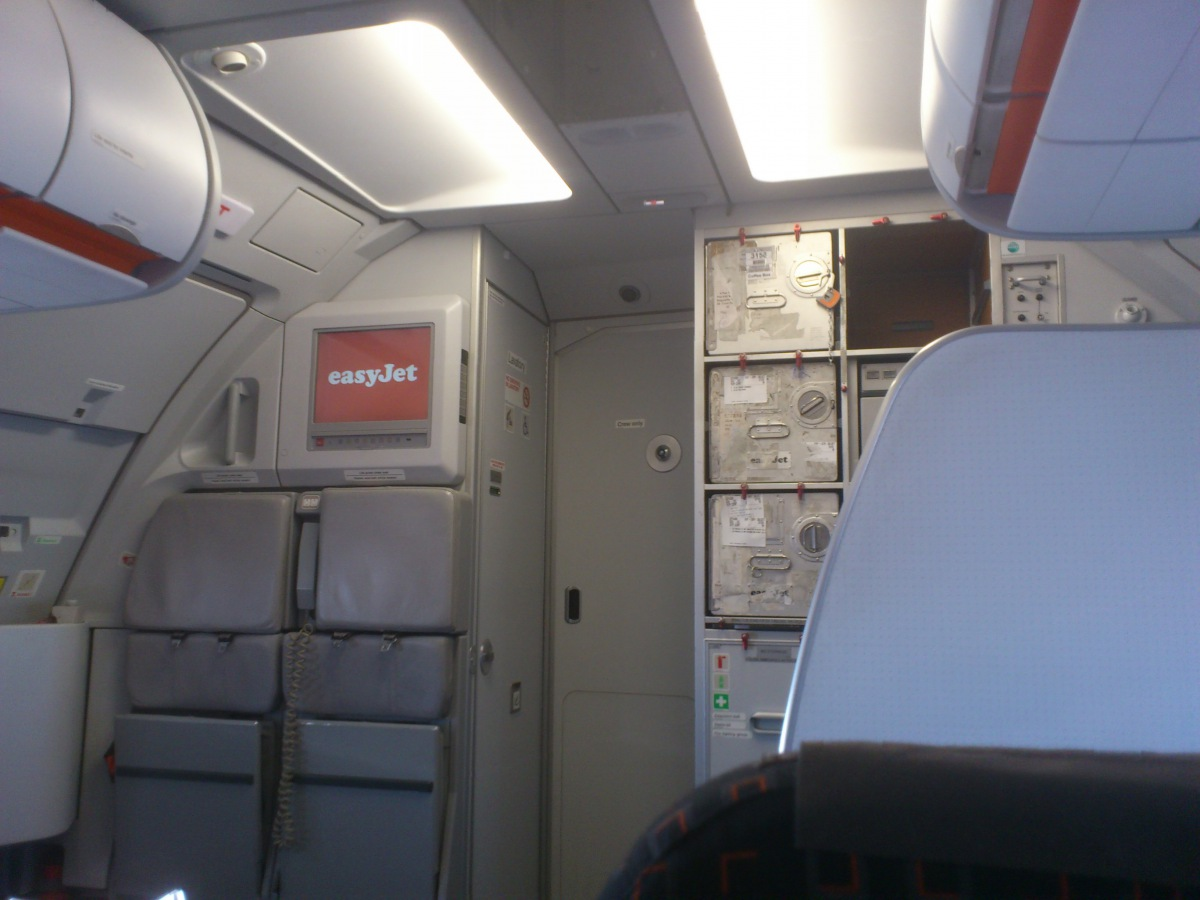 Passenger cabin of EasyJet Airbus A320