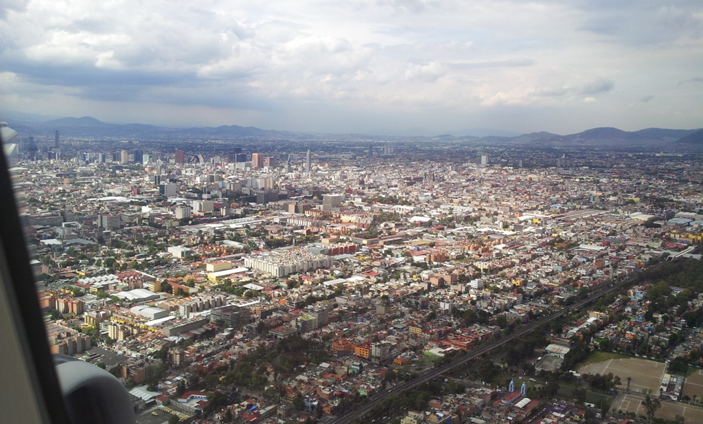 Вид на центр города Мехико