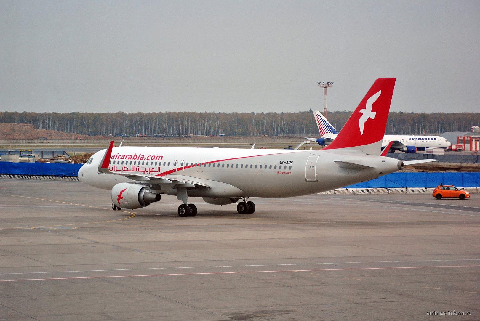 Airbus A320 A6-AOK авиакомпании Air Arabia в аэропорту Домодедово