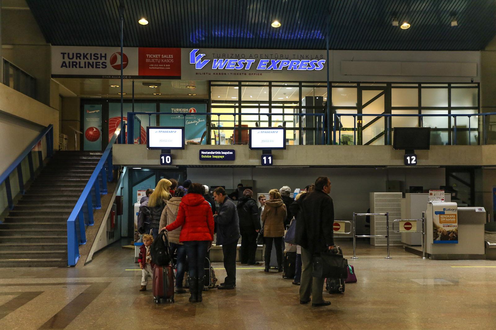 Стойки регистрации в аэропорту Вильнюс