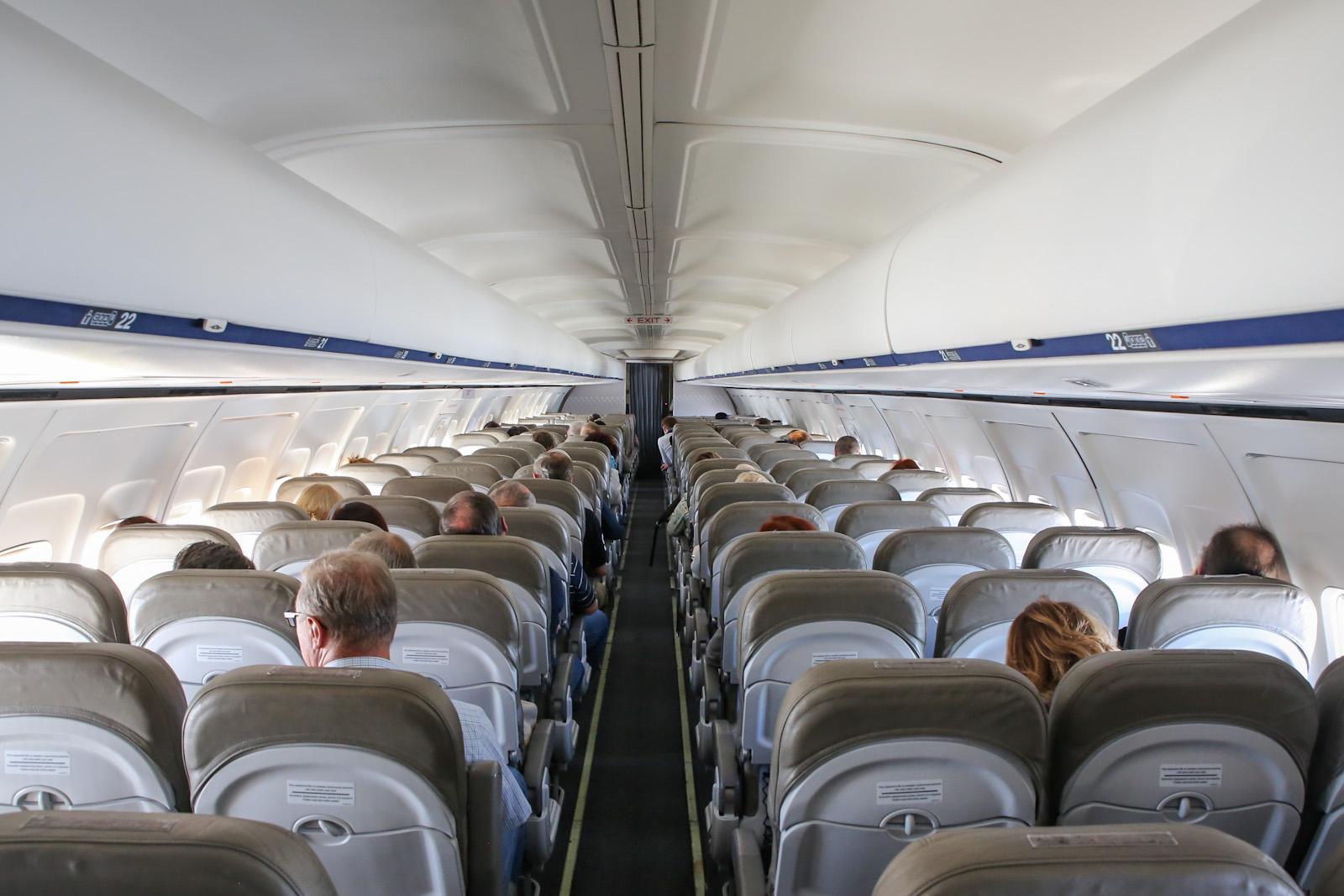 Салон самолета Боинг-737-300 авиакомпании Bulgaria Air