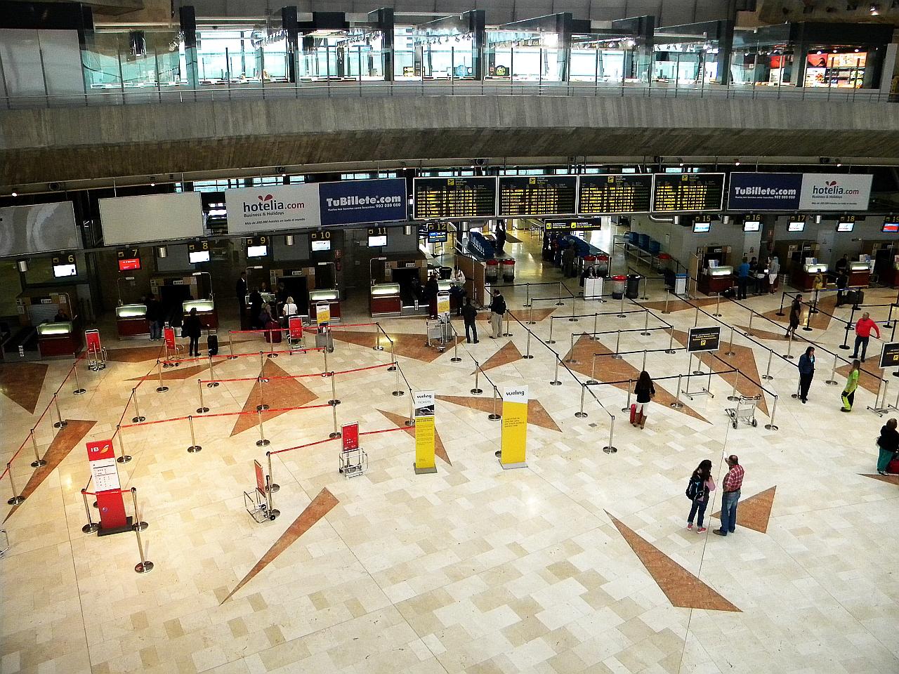 Зал регистрации на рейсы в аэропорту Тенерифе Северный