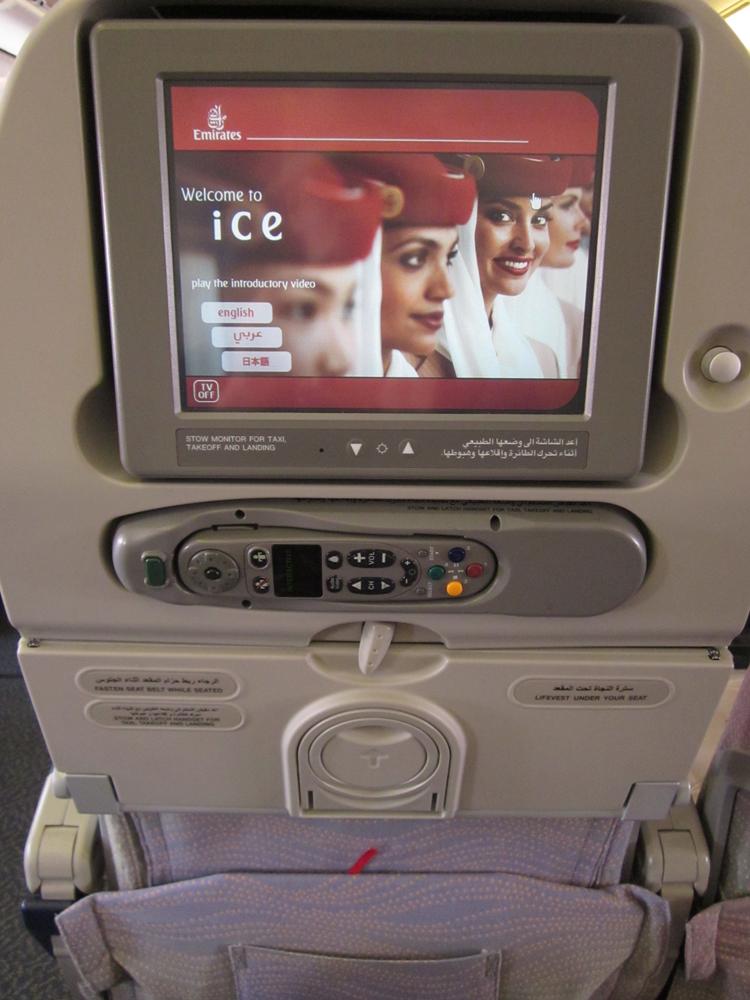 Система развлечений в самолете Боинг-777-300 Эмирейтс
