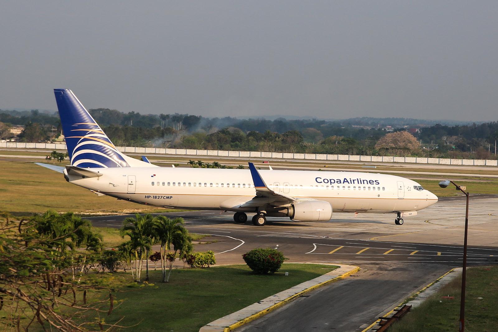 Боинг-737-800 авиакомпании Copa Airlines в аэропорту Гаваны