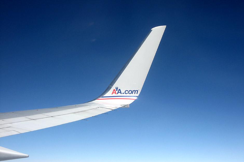 American Airlines в полете