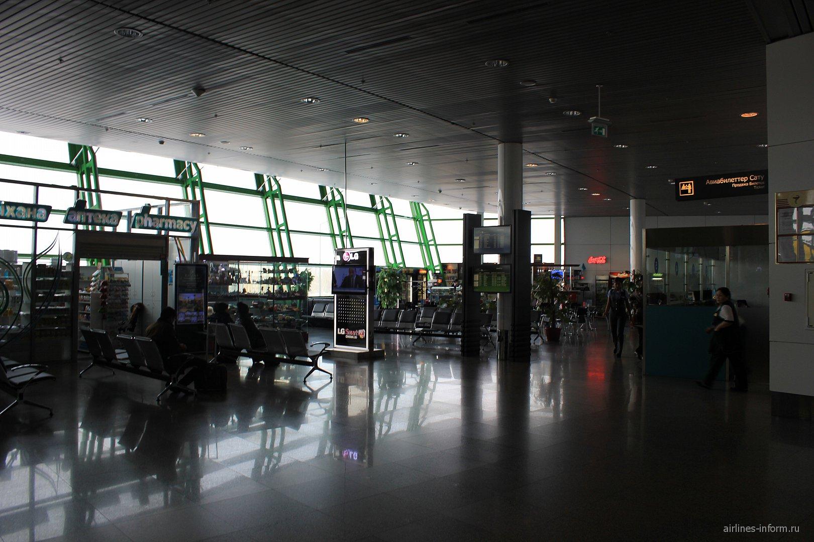 Зал ожидания перед выходом на посадку в аэропорту Астана