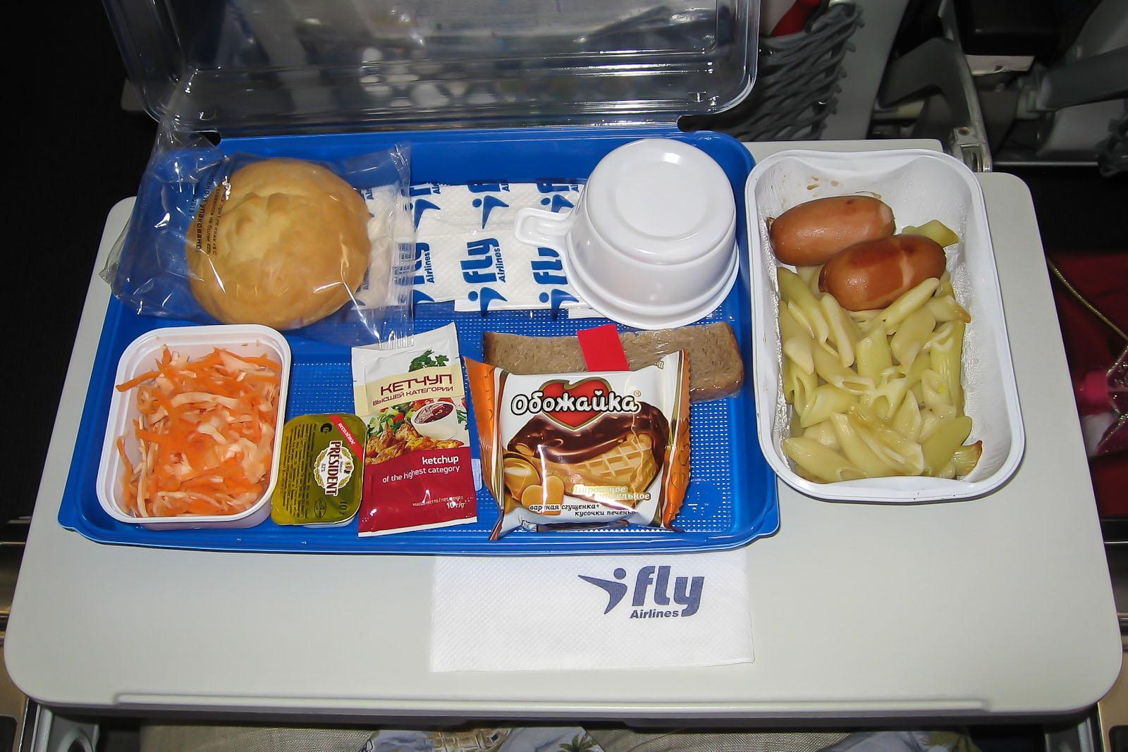 Питание на чартерном рейсе Москва-Бургас авиакомпании Ай Флай