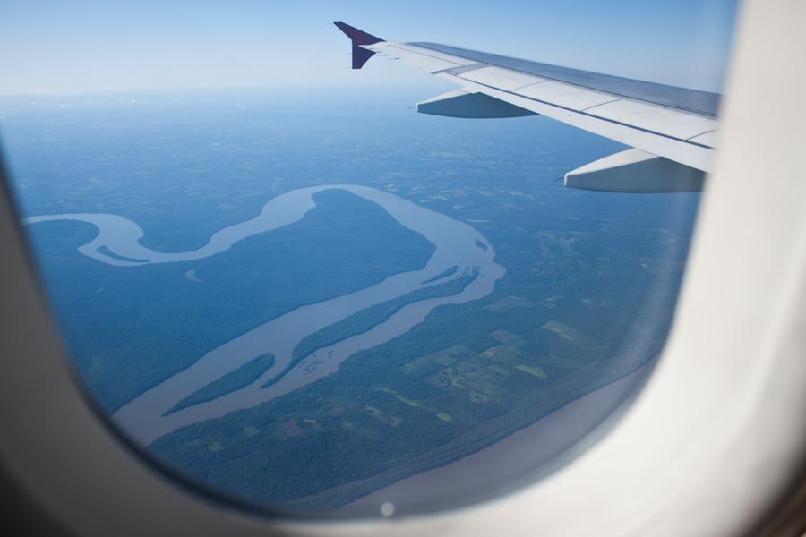 В полете над Бразилией