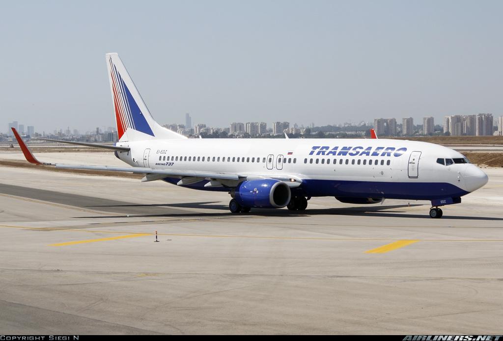 Самолет Боинг-737-800 авиакомпании Трансаэро