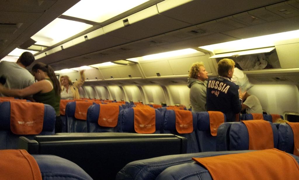 Салон самолета Боинг-767-300 Аэрофлота