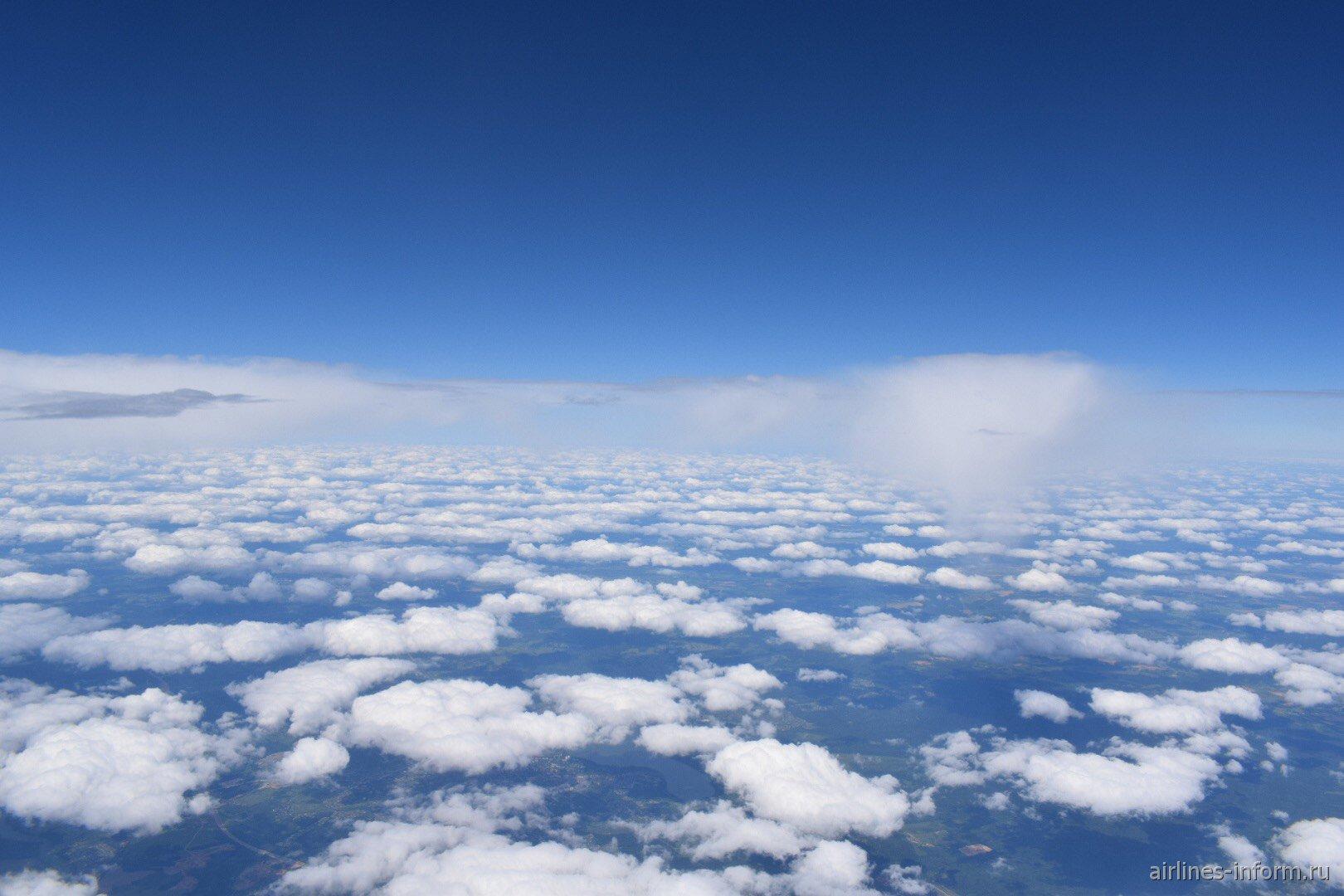 Облака во время рейса Москва-Франкфурт