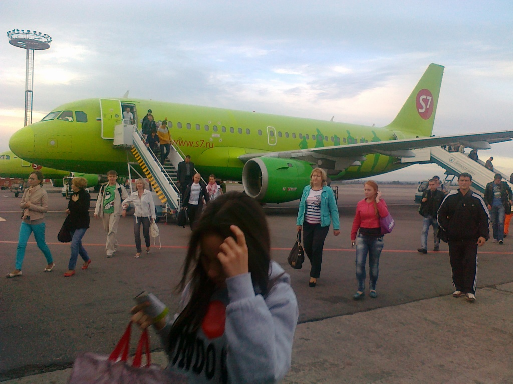 Самолет Airbus A319 авиакомпании Сибирь