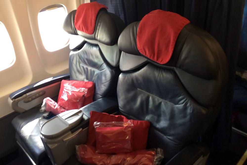 """Кресла бизнес-класса в самолете Ту-214 авиакомпании """"Трансаэро"""""""