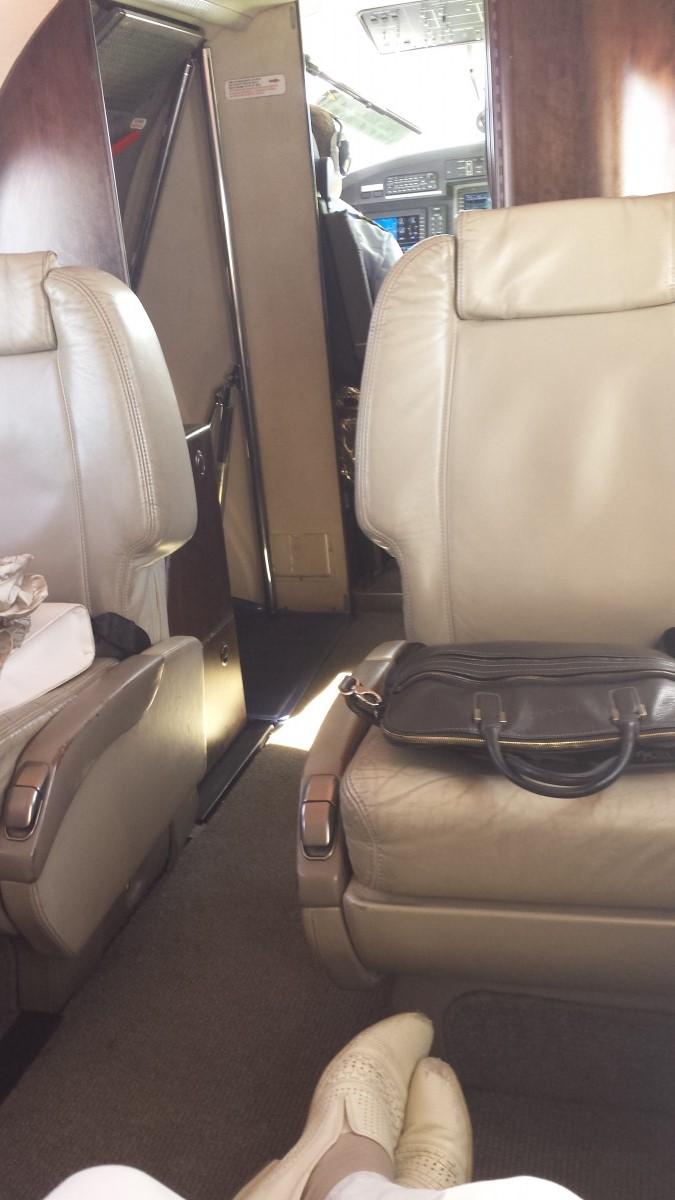 В самолете Pilatus PC-12 авиакомпании Dexter