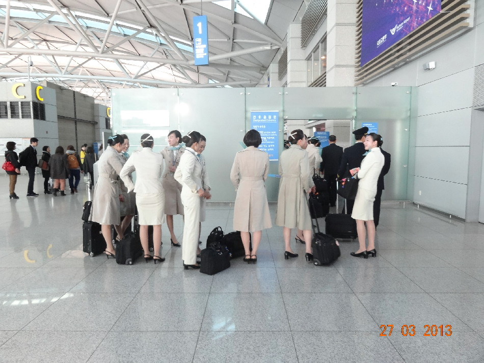 Бортпроводники авиакомпании Korean Air