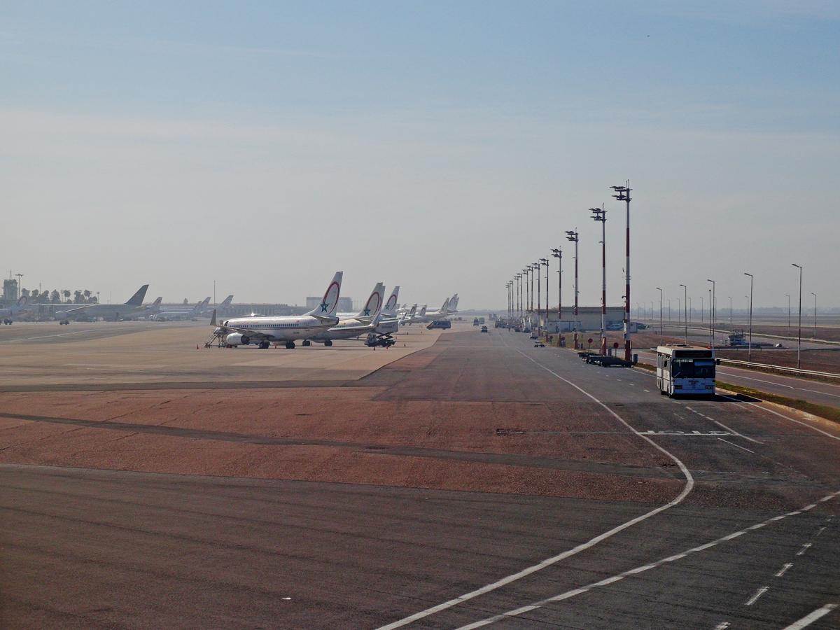 Перрона аэропорта Касабланка Мухаммед Пятый
