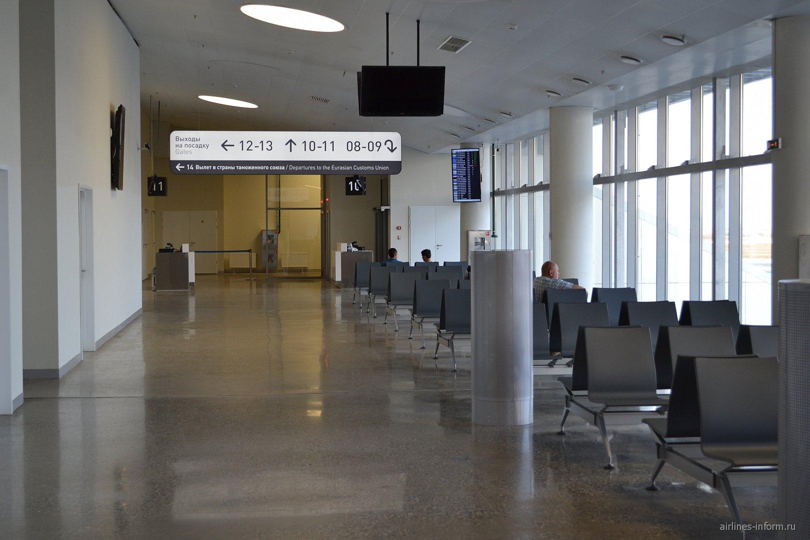 Зал ожидания в чистой зоне аэропорта Самара Курумоч