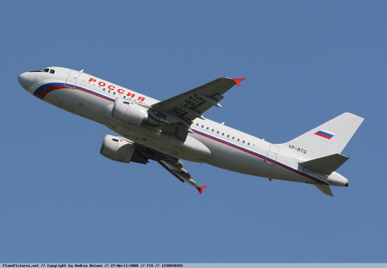 Самолет Airbus A319 авиакомпании Россия