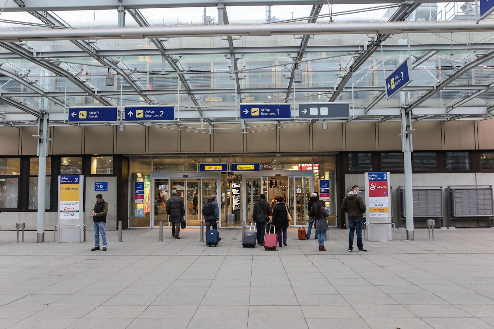 Вход в аэровокзал аэропорта Нюрнберг
