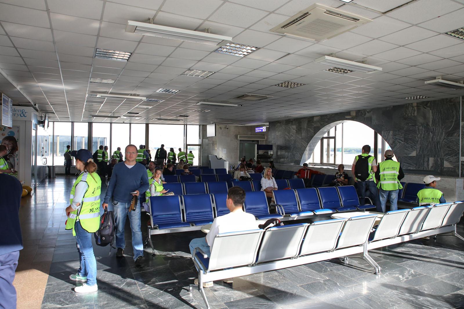 Накопители в аэропорту Минск Национальный
