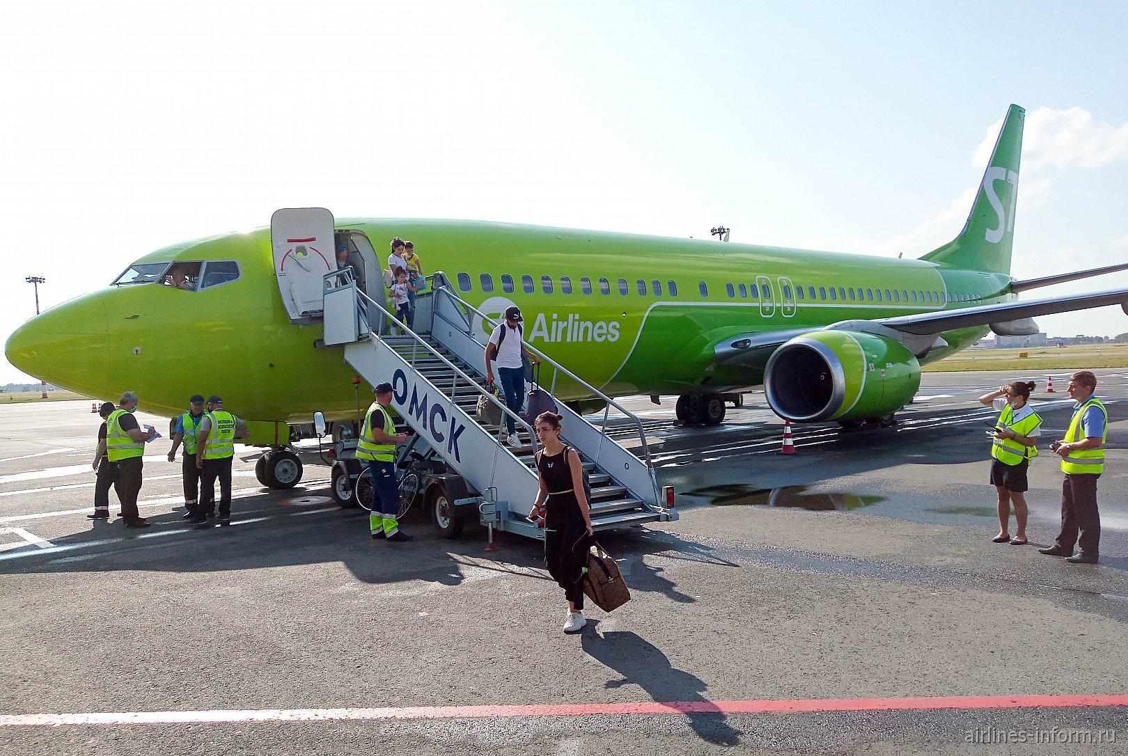 Москва - Омск, S7 (Сибирь), Boeing 737-800, VP-BQD