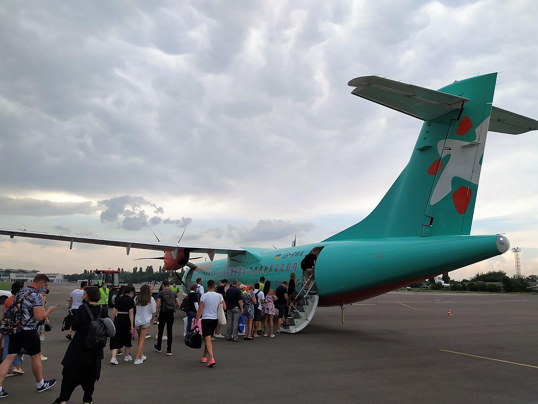 Обратный рейс. Одесса - Борисполь на крыльях Windrose.