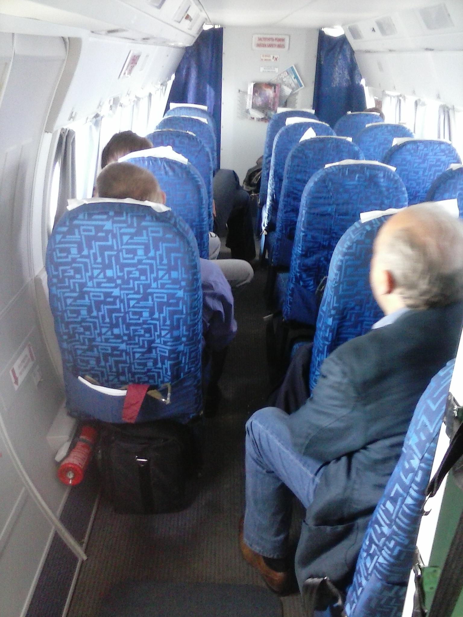 Салон самолета Л-410 авиакомпании Оренбуржье